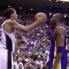 Kobe Bryant not flinching GIF ruined