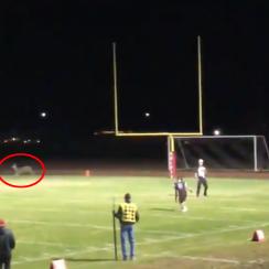Deer runs on field during kickoff return touchdown (video)