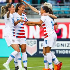 The U.S. women's national team opens World Cup qualifying