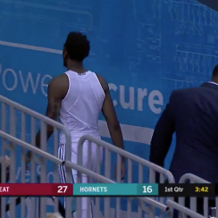 Hornets' Malik Monk forgets jersey in preseason game (video)