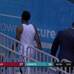 Hornets' Malik Monk forgets jersey in preseason game (video)