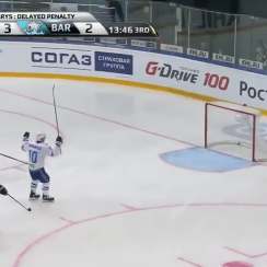 KHL: Avangard allows own goal to Barys on delayed penalty (video)