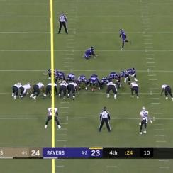 Justin Tucker misses extra point