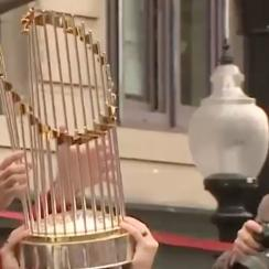 world-series-trophy-damaged-beer-can