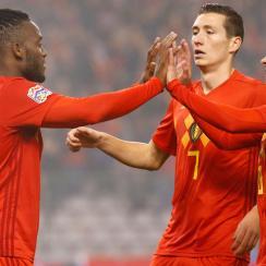 Michy Batshuayi scores for Belgium vs. Iceland