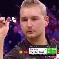 Dimitri Van den Bergh nine-darter wows fans at Grand Slam of Darts