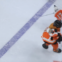 Gritty: Flyers mascot throws kid in penalty box (video)