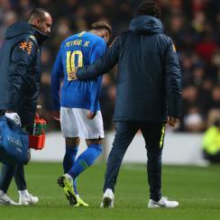 Neymar is injured in Brazil's friendly vs. Cameroon