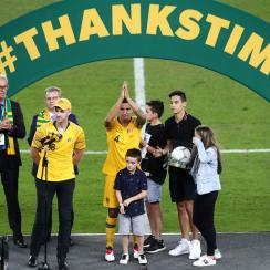 Tim Cahill has his last appearance with Australia
