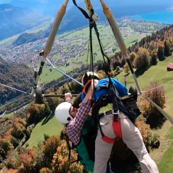 Hang Gliding accident video: Tourist clings for dear life