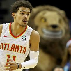 Trae young visits little brother at school