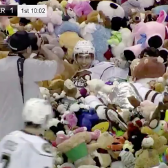 Hershey Bears teddy bear toss sets record with 34,798 (video)
