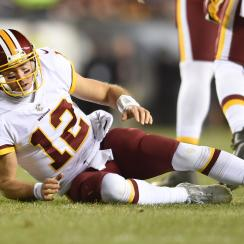 Colt McCoy injury: Redskins QB stayed in game, completed two passes