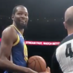 Kevin Durant jokes with Hawks fans heckling him (video)