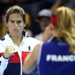 Amelie Mauresmo Lucas Pouilee France Davis Cup
