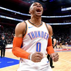 Oklahoma City Thunder v Detroit Pistons