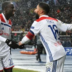 Nabil Fekir scores for Lyon vs Shakhtar Donetsk