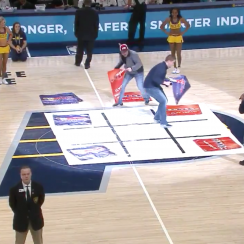 Pacers fans play tic-tac-toe, mess up gloriously (video)