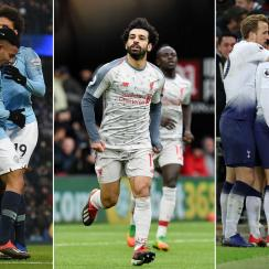 Man City, Liverpool and Tottenham are all vying for the Premier League title