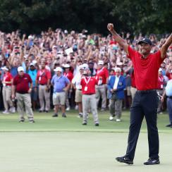 Tiger Woods golfies year end award tour championship comeback player