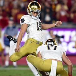 Justin Yoon: Notre Dame kicker trained by father for big athletic moments