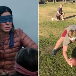 Bird Box challenge: USC football player Jake Olson's try (video)