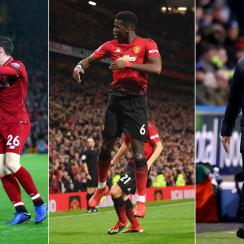 Liverpool and Man United enjoyed success, while Huddersfield languishes in last place in the Premier League