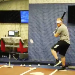 Bird Box Challenge: Dodgers' Justin Turner hits ball (video)