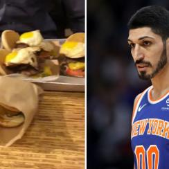 Knicks' Enes Kanter eats seven burgers, leaves practice