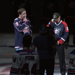 Blue Jackets fans sing national anthem after mic mishap (video)