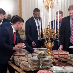 Clemson White House visit: Over 1,000 burgers eaten, Trump says