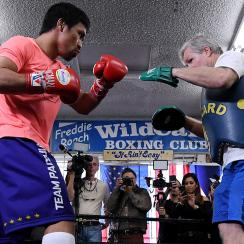 Manny Pacquaio and Freddie Roach