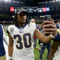 Todd Gurley, rams, saints, new orleans saints, los angeles rams, supere bowl liii, nfc championship