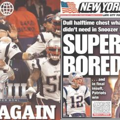 Patriots-Rams reactions: Newspaper front pages after Super Bowl