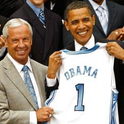 barack obama north carolina duke game attendance