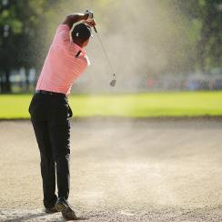 Tiger Woods fairway bunker shot wgc mexico