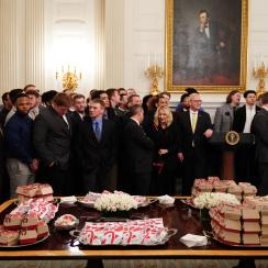 North Dakota State White House visit includes fast food spread