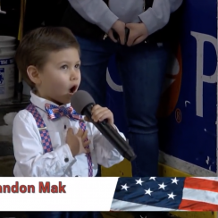 Landon Mak sings national anthem at Hershey Bears game (video)