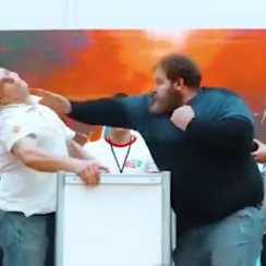 Video: Russian slapping championship contest in Siberia