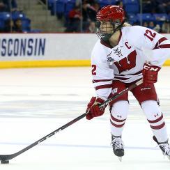 NCAA HOCKEY: MAR 22 Div I Women's Frozen Four - Clarkosn v Wisconsin