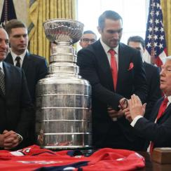 President Trump Welcomes Stanley Cup Champion Washington Capitols To White House