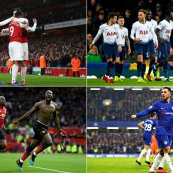 Arsenal, Tottenham, Man United and Chelsea are all vying for top-four berths in the Premier League