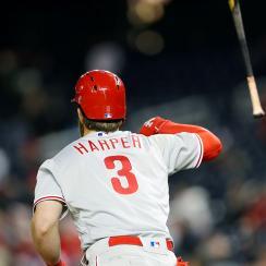 Bryce Harper bat flip Phillies vs. Nationals