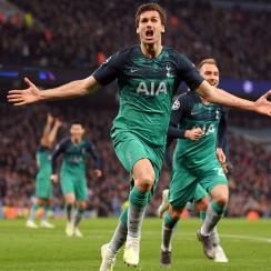 Fernando Llorente scores for Tottenham vs Man City