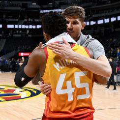 Kyle Korver on Donovan Mitchell