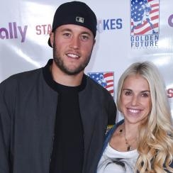 Lions QB Matthew Stafford and his wife Kelly