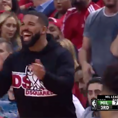 Drake trolls Giannis during Raptors vs Bucks Game 4