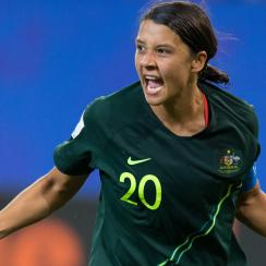 Sam Kerr scores four goals for Australia vs. Jamaica