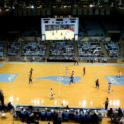 UNC basketball Carmichael Arena game vs Wofford