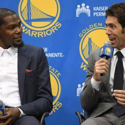 Bob Myers said he was sad when Kevin Durant left Warriors